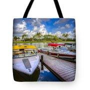 Ski Nautique Boats Tote Bag