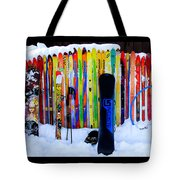 Adventure Ski Tote Bag