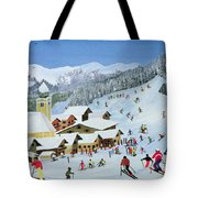 Ski Whizzz Tote Bag by Judy Joel