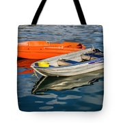 Skiffs At The Harbour Tote Bag