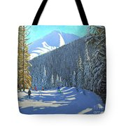 Skiing  Beauregard La Clusaz Tote Bag
