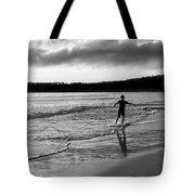 Skimboarder Sunser #1 - Black And White Tote Bag