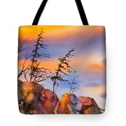 Skinny Trees Windy Day Tote Bag