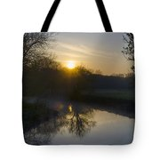 Skippack Creek Sunrise Tote Bag