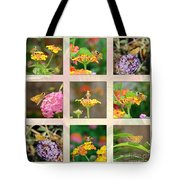 Skipper Butterfly Collage Tote Bag