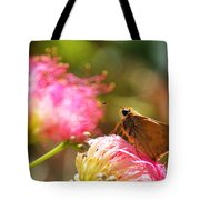 Skipper Butterfly On Mimosa Flower Tote Bag