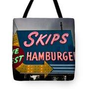 Skips Hamburgers Tote Bag