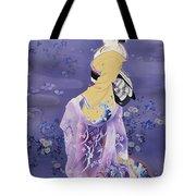 Skiyu Purple Robe Tote Bag by Haruyo Morita