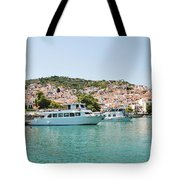 Skopelos Harbour Greece Tote Bag
