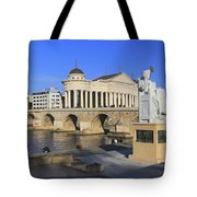 Skopje City Center Macedonia Tote Bag