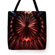 Skc 0285 Cut Glass Plate In Red And Blue Tote Bag
