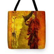 Skull And Peppers Tote Bag