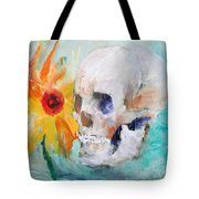 Skull And Sunflower Tote Bag