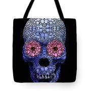Skull Art - Day Of The Dead 1 Stone Rock'd Tote Bag