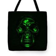 Skull In Green Tote Bag