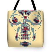 Skull In Negative Hope Tote Bag