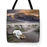 Skull In The Desert Tote Bag