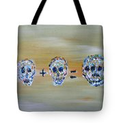 Skull Mathematics Tote Bag