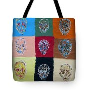 Skull Pop Nine Tote Bag