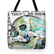 Skull Quoting Oscar Wilde.10 Tote Bag