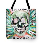 Skull Quoting Oscar Wilde.7 Tote Bag