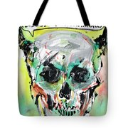 Skull Quoting Oscar Wilde.8 Tote Bag