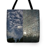 Sky And Building Tote Bag by Gary Eason