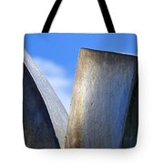 Sky And Metal In The Garden Tote Bag