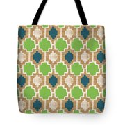 Sky And Sea Tile Pattern Tote Bag