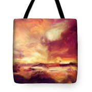 Sky Fire Abstract Realism Tote Bag
