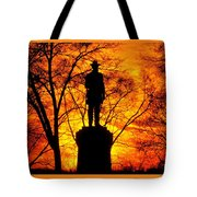 Sky Fire - Flames Of Battle 50th Pennsylvania Volunteer Infantry-a1 Sunset Antietam Tote Bag