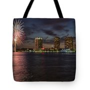 Sky Fire Tote Bag