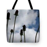 Sky Flowers Tote Bag