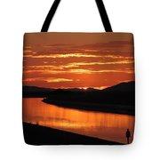 Sky On Fire Again Tote Bag