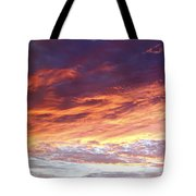 Sky On Fire Tote Bag by Les Cunliffe