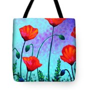 Sky Poppies Tote Bag