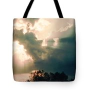 Cowboy Sky Rider On A Horse Tote Bag