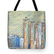 Sky Stations Pylon Caps - Downtown Kansas City Missouri Tote Bag