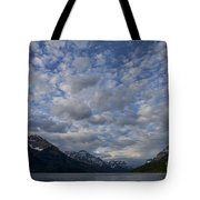 Sky Water Mountains Tote Bag