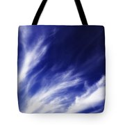 Sky Wisps Blue Tote Bag