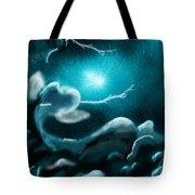 Sky With Romantic Rainy Cloud Tote Bag