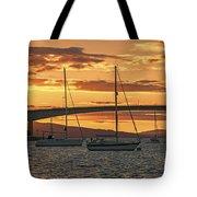 Skye Bridge Sunset Tote Bag