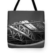 Skylight Gurders In Black And White Tote Bag
