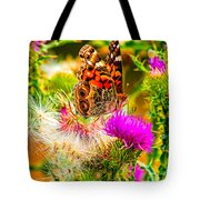 Skyline Butterfly Tote Bag