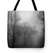 Skyline Drive In Fog Tote Bag