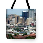 Skyline Of Birmingham Tote Bag