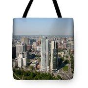 Skyline Of Milwaukee Wisconsin Tote Bag
