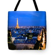 Skyline Of Paris Tote Bag