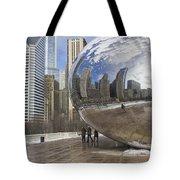 Skyline Reflected Tote Bag