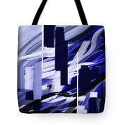 Skyline Reflection On Water Tote Bag